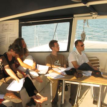 réunions de travail en mer