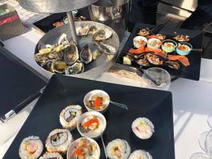 buffet fruits de mer à quai